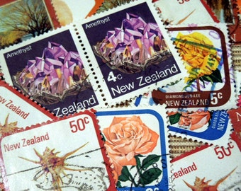 Vintage Postage Stamps from New Zealand E-mixed-14