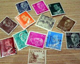 Collectibe Vintage Postage Stamps from Spain E-15