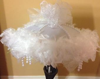 Feathered Second Line Bridal Umbrella