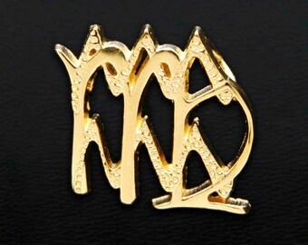 56 Virgo and Aquarius Gold Unity Pendant