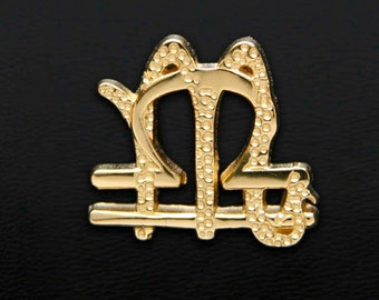 59 Libra and Scorpio Gold Unity Pendant