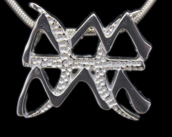 77 Aquarius and Pisces Silver Unity Pendant