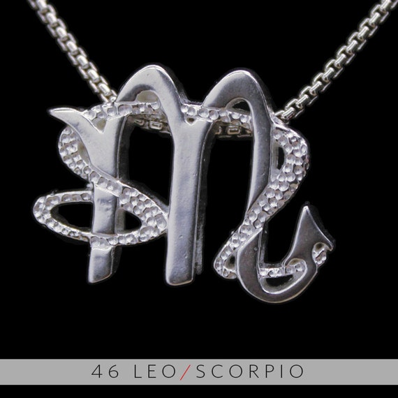 46 leo and scorpio silver unity pendant like this item mozeypictures Images