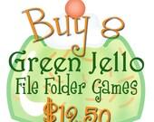 BUY 8 File Folder Games - Downloadable PDF Only