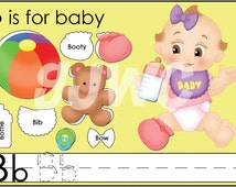 B is for BABY Alphabet File Folder Game - Downloadable PDF Only