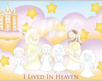 I LIVED in HEAVEN Children's File Folder Game - Downloadable PDF Only
