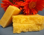 Ginger and Tangerine - Cocoa Butter Bar- Handmade - Hot Process
