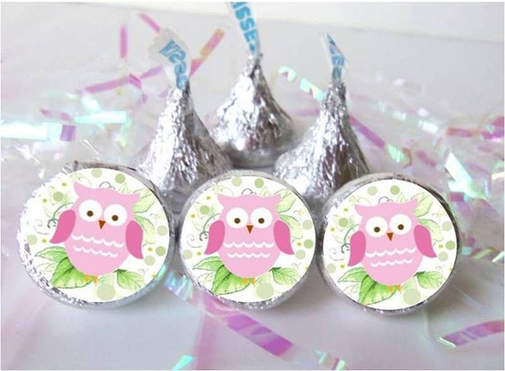 owl baby shower favors pink girl decorations birthday party hershey