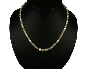 Pati Classic Pearl Necklace -  Single Pearl Necklace - Bride Pearl Necklace -  Bridesmaid Pearl Necklace - Pearl Bridal Jewelry
