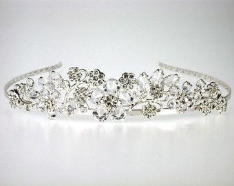 Diana Bridal Tiara with Bohemian Rhinestones - Wedding Tiara - Bridal Headpiece - Bridal Headband with Crystals