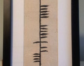 """Ancient Irish Ogham Writing for the word """"Family"""""""