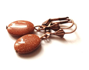 Cinnamon - small, brown earrings