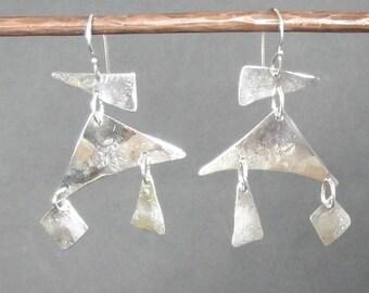 Artisan Sterling Silver Mobile Earrings