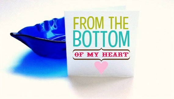 From The Bottom Of My Heart Print Blank Cards Set of 6