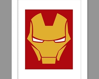 Digital Download Iron Man Painting Wall Abstract Art Superhero