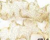 ITALIAN WIRE MESH: 6mm Gold Italian Wire Mesh Ribbon 1 Yard Length (3 Feet)