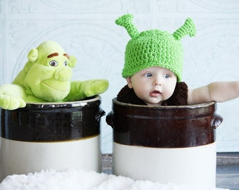 Green Orge  Hat, Boy or Girl,warm crochet hat   Many Sizes preemie, newborn, 0-3 month,3-6 month, 6-12 month,, 1-3 yr