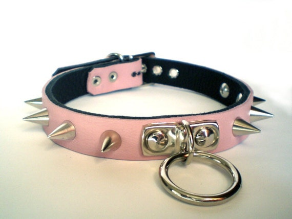Bondage collar pink