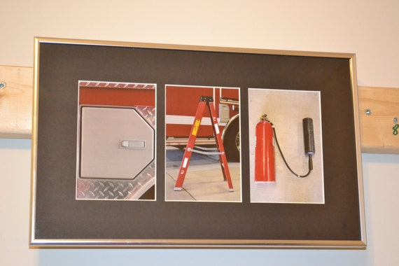 Items similar to 3 letter name personalized firefighter for Personalized firefighter letter art