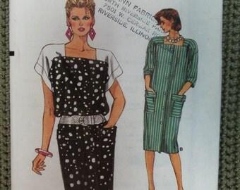 VINTAGE 1985 VOGUE Dress Pattern sz  12 14 16 UNCUT