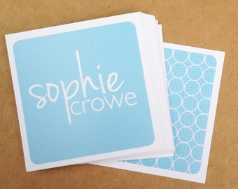 Personalized Calling Cards / Sophie