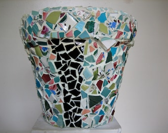 LARGE INDOOR PLANTER- Mosaic Flower Pot-Home and Living-Gardening