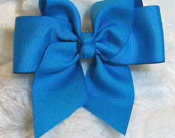 Solid Turquoise Blue Girls 4 inch Single Hair Bow