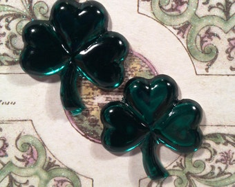 St Patricks Emerald Green Shamrock earrings. Overall size is one inch (post only)