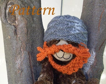 PATTERN Knit Dwarf Hat with Beard -- Preemie, Baby, Toddler, Child, Adult Sizes