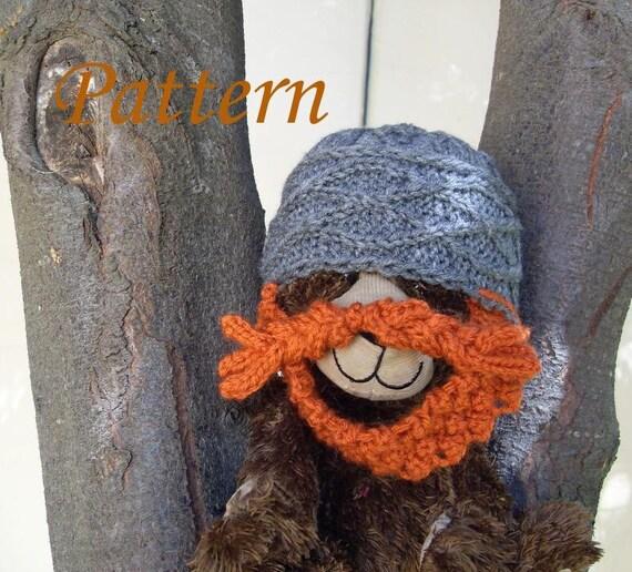 Knitting Pattern For Dwarf Hat : PATTERN Knit Dwarf Hat with Beard Preemie by GeekistryDesigns