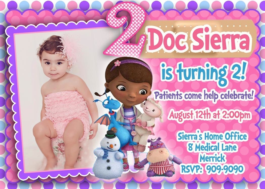 Free Doc Mcstuffins Invitations with perfect invitation design
