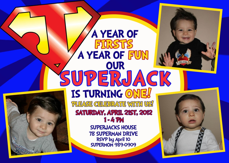 Superman Superheroes Superhero Birthday Party Avengers – Superman Birthday Invitations