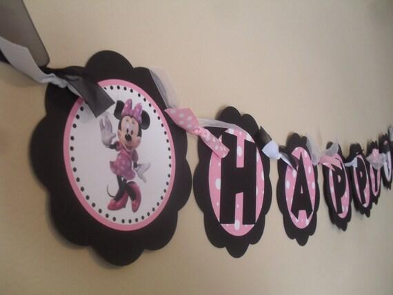 Favorito Striscione buon compleanno Minnie Mouse UL18