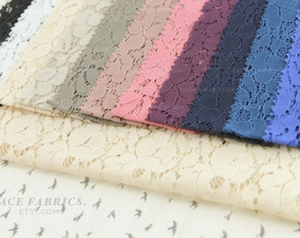 Cotton Lace SINGLE Sample Cut Swatch Swatches 11 Colors Available - Lace Fabric Style 200