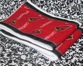 2 Pack of Decorative Burp Cloths - 2 Pack Arizona Cardinals Football Fabric Burp Cloths