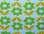 Organic Cotton -Flower blooms - Collection by Monaluna Usa 1/2 yd