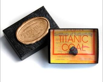 RMS Titanic 100th Anniversary Coal Presentation Box W/Certificate Of Authenticity, Authentic Memorabilia