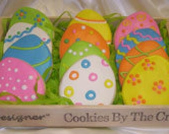 Easter Egg Cookie Basket Gift, Easter Gift, Great Easter Gift, Easter Egg Cookies, Best Easter Gift, Easter Cookie Bouquet