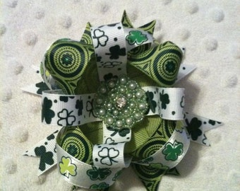St. Patricks day hair bow