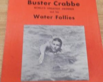 Buster Crabbe Vintage Water Follies Program