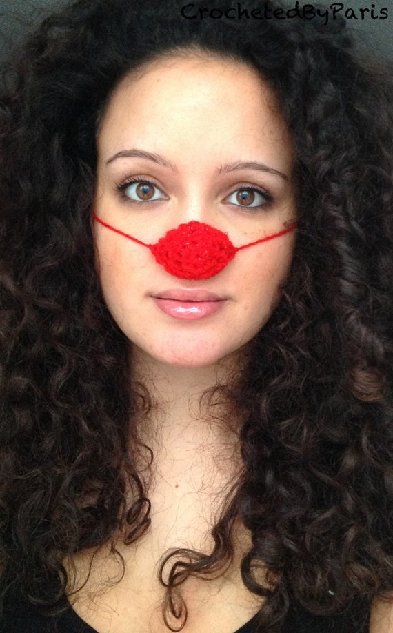 Red Nose Day, nose warmer, red nose, crocheted handmade 2.50 from each sale to charity.