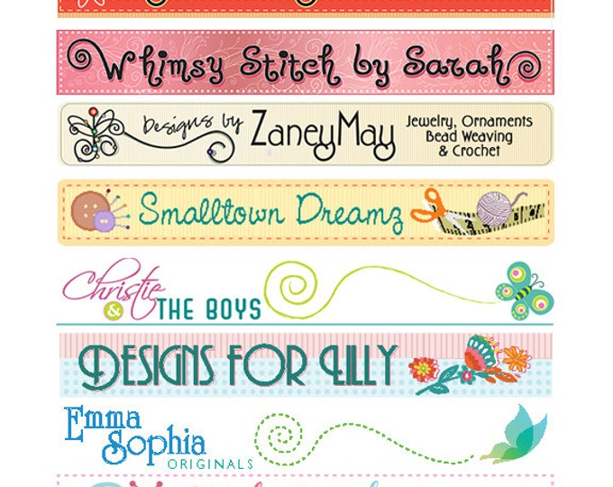 Custom Logo and Shop Graphics for Etsy Banners & Facebook Covers From Existing Label Artwork
