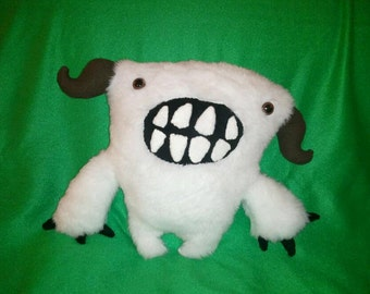 Handmade Snow Monster Plush
