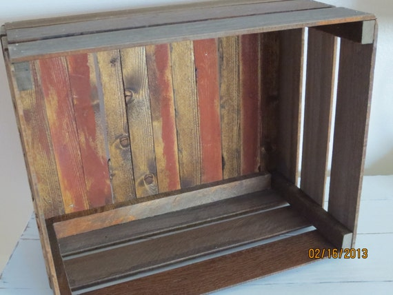 Rustic Wood Crate, Salvaged Wood Crate, Wood Crate, Wooden Crate, Apple Crate, Crate, Rustic Crate, Rustic Furniture