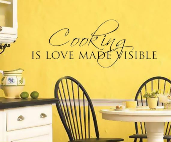 Items similar to wall art sticker decal kitchen dining for Dining room quote decals