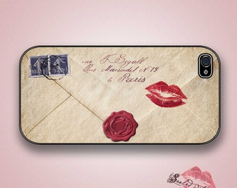 Sealed with a Kiss - Love Letter -iPhone 4/4S 5/5S/5C/6/6+ and now iPhone 7 cases!! And Samsung Galaxy S3/S4/S5/S6/S7