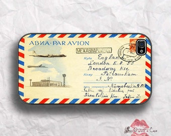 Vintage Airmail envelope - iPhone 4/4S 5/5S/5C/6/6+ and now iPhone 7 cases!! And Samsung Galaxy S3/S4/S5/S6/S7