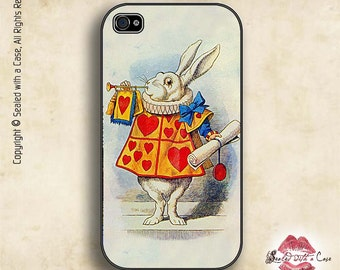Alice in Wonderland White Rabbit - iPhone 4/4S 5/5S/5C/6/6+ and now iPhone 7 cases!! And Samsung Galaxy S3/S4/S5/S6/S7