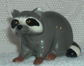 Sale....Sale................Vintage NEW Bone CHINA Miniature Natural  and RACOON
