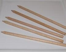 Wooden Skewers, Candy or Caramel Apple Sticks- set of 25